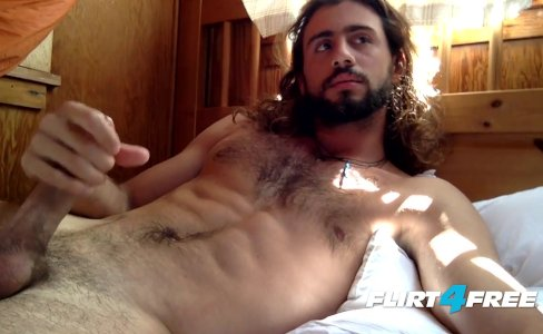 Long Haired Hunk Sean Carraway Spews a Big Load on His Nice Body|18,534 views