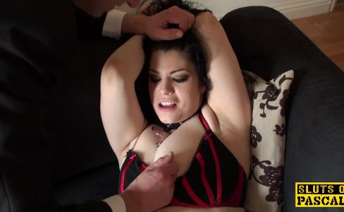 Busty british sub pussyfucked while bound|18,587 views