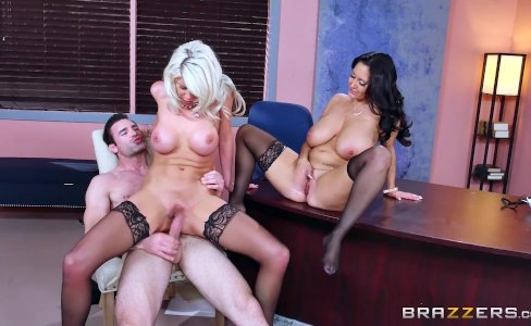 Brazzers - Sexy threesome in the office|287,599 views