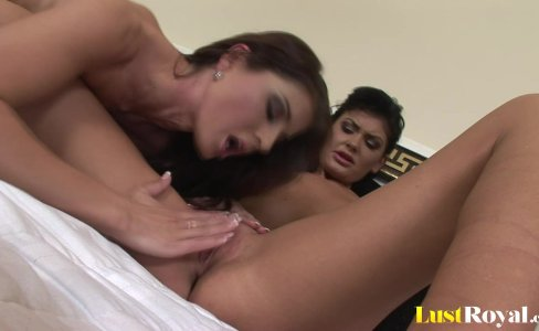 Horny chicks Kate Jones and B.B Black share cock|250 views
