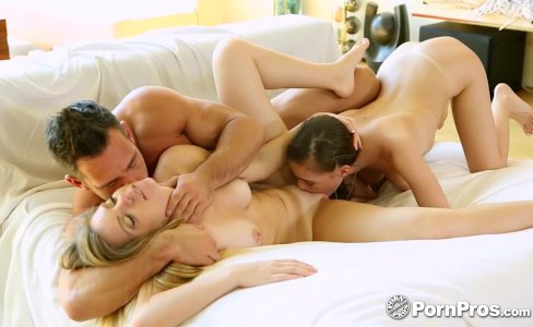 PornPros - Teens Trisha Parks and Sky West pussies fucked in threesome|193,944 views