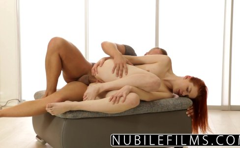 NubileFilms - Beautiful Redhead Gets Anal Payment|176,393 views