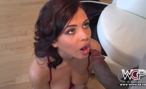 Cute young Keisha Grey goes black|28,364 views
