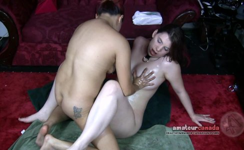 Asian GF and Collared wet hairy submissive|461 views