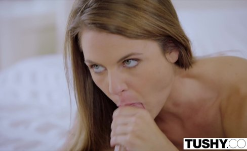 TUSHY Hot assistant ass fucked by boss|340,998 views