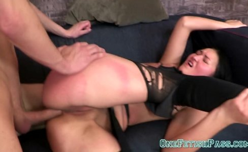 Brunette Bitch Gina Is Punished By A Hard Guy|300 views