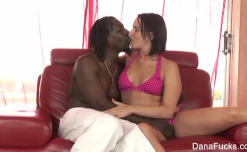 Brunette hottie Dana gets an interracial anal fucking|16,031 views