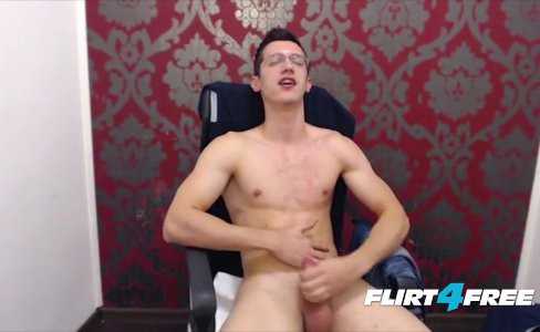 Twink With Glasses Wanks His Huge Uncut Cock|3,506 views
