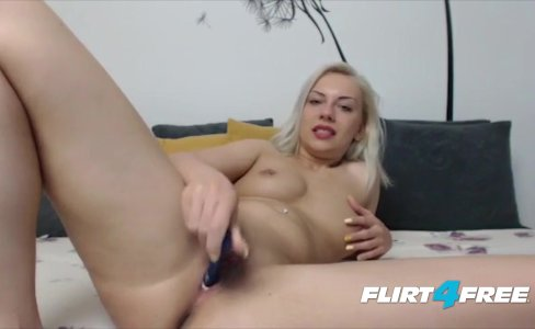 Blonde Bombshell Izabelllaa Fondles Her Pierced Nipples and Pussy|5,123 views