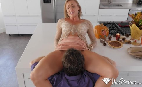 PureMature - Hot and horny house wife Kate Linn fucks her husband's friend|247,087 views