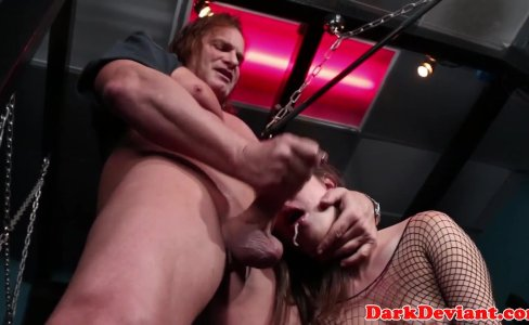 Dominated babe facefucked in dungeon|866 views