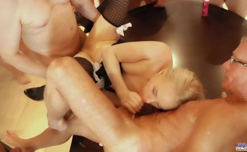 Hot young blonde gangbang fucking seven old men facials and anal meeting|4,052 views