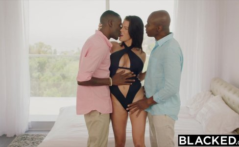 BLACKED Wife Peta Jensen Cheats With Two Guys|243,521 views