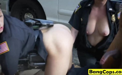 Cop whores enjoy hot interracial sex|36 views