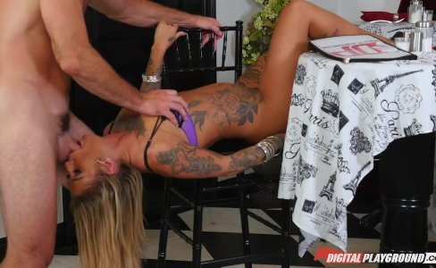 DP Star 3 - Hot Tatooed Pornstar Kleio Valentien Deep Throat Blowjob|19,921 views