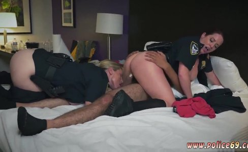 Black ebony fake cop and 2 blonde cops 1|761 views