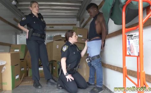 Ebony police strapon first time Black|2,971 views