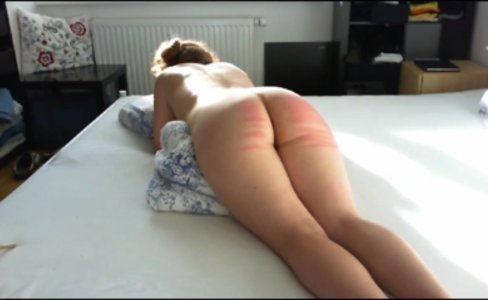 Hard caning lessons for slave Lena|1,131 views