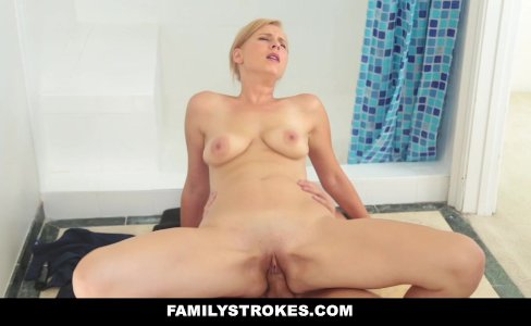 FamilyStrokes - Hot Milf Sucks Off Step-Son|119,586 views