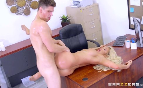 Brazzers - Dirty blonde mild Olivia Fox gets fucked on the desk|6,282 views
