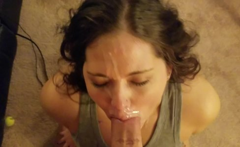Sexy amateur cocksucker takes a messy facial like a pro|146 views