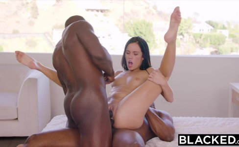 BLACKED Hot Megan Rain Gets DP'd By Her Sugar Daddy and His Friend|910,437 views