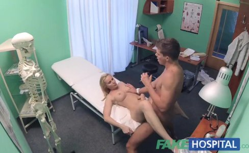 FakeHospital Sexy blonde MILF feeds then fucks doctor on desk|35,520 views