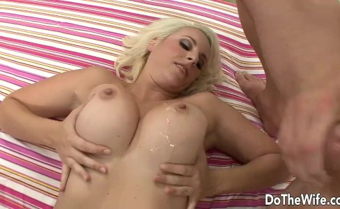 Blonde MILF takes big cock in front of husband|1,982 views