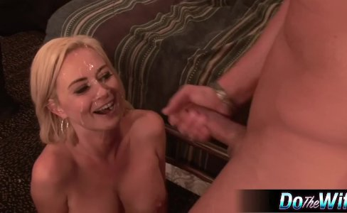 Blonde wife fucked in front of husband|637 views