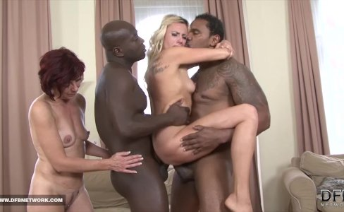 Matures in hardcore interracial group sex facial cum|59,731 views