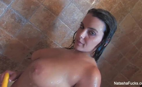 Natasha Nice toys her ass and takes a shower|12,194 views