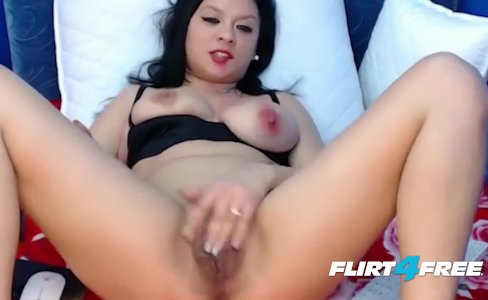 Black Haired Babe With Natural Tits DPs Herself With Dildos|6,142 views