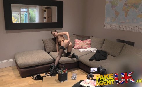 Fake Agent UK Euro babes peachy arse fingered and fucked in casting|153,762 views