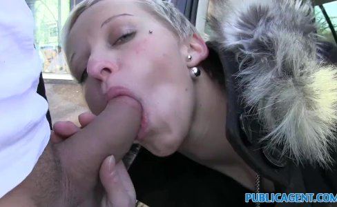 Public Agent Her pussy gets splattered with spunk|62,320 views