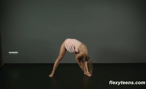 Brunette gymnast Zina shows how flexible she is|21,660 views