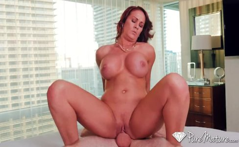 PURE MATURE Busty milf Sabrina Cyns shows her experienced fucking skills|40,422 views