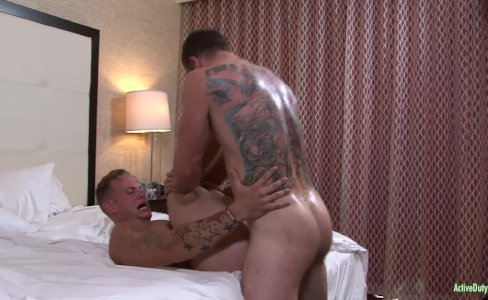 ActiveDuty Hunky Brad's First Time with A Guy!|12,689 views