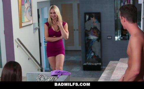 BADMILFS - Cute Teen Learns To Fuck Thanks To Mom|212,435 views