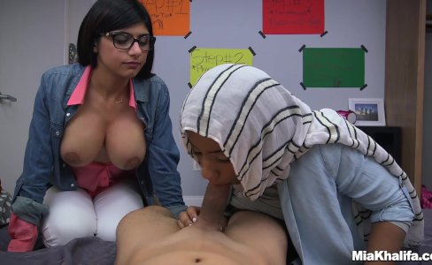 Blowjob Lessons with Mia Khalifa and Her Arab Friend (mk13818)|36,536 views