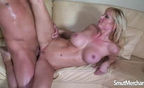 Sexy blonde MILF sits on fat cock|856 views