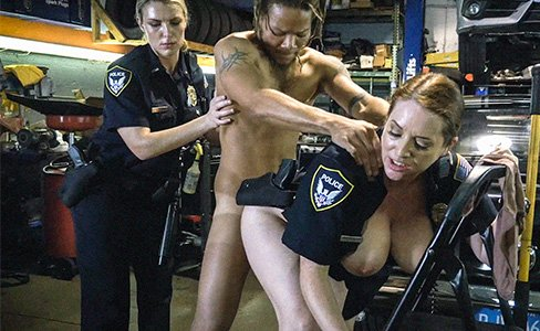 black patrol porn videos