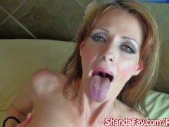 Canadian Milf Shanda Fay Gives BJ for Facial!