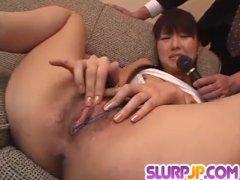 Misato Kuninaka gets tasty dick to choke her