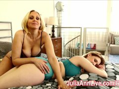 Milf Julia Ann plays with Siri