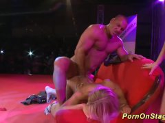 wild porn stage fuck orgy