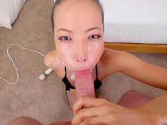 Kalina Ryu Taking Pole Down Her Gullet