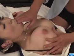 Spicy Yui Satonaka gets cock in each of her holes