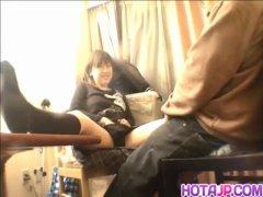 Schoolgirl filmed when shaking dick in the pu