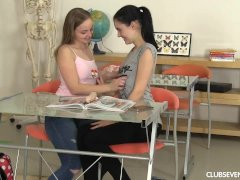 Kinky students toying their pussies