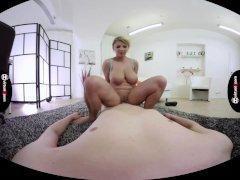 Katerina Hartlova rubs cock with her monster juggs